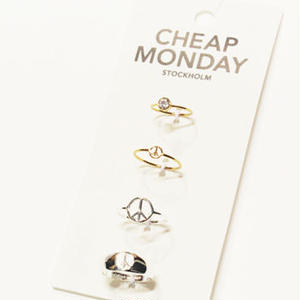 【CHEAP MONDAY】Peace rings