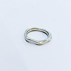 【Phismade】925 HAND WAVE RING