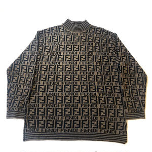 【Vintage FENDI】ZUCCA SWEATER brown