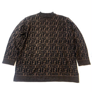 【Vintage FENDI】ZUCCA SWEATER dark brown