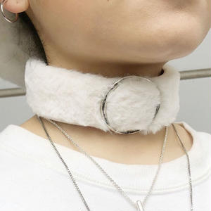 【CUBRUN】FAKE FUR RING CHOKER