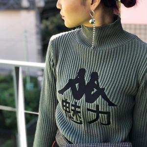 【CHARM'S】×KAPPA 魅力 TURTLENECK KNIT