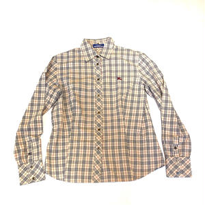 【Vintage Burberry】CHECK SHIRTS  red 1P