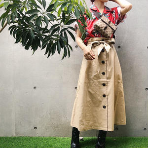 TRENCH MIDIUM SKIRT