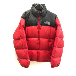 【THE NORTH FACE】USED DOWN - RED / GRAY -