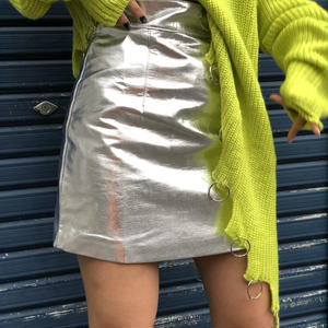 【CUBRUN】METALIC MINI SKIRT