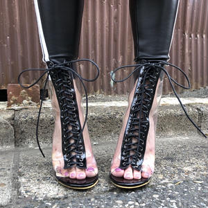 CLEAR LACEUP BOOT