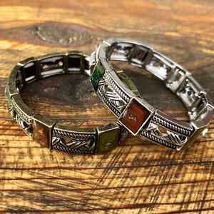 【ANTIQUE LIKE】SQUARE  STONE BRACELET