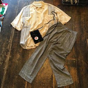 [USED] ITALY シルクシャツ