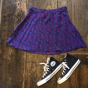 [USED] 花柄 SILK 100% スカート