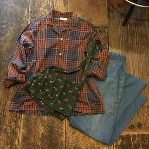 [USED] vintageチェックシャツ