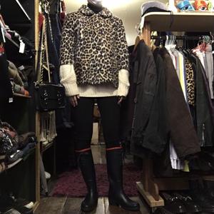 [USED]♡  vintage ♡ fake fur JKT ♡