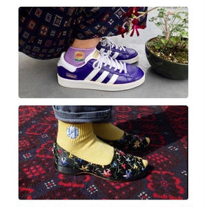 """[MY LOADS ARE LIGHT] """"Clouds and Flower"""" SOCKS  2足SET!"""