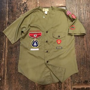 [USED] vintage ノーカラー  BOY SCOUTS シャツ