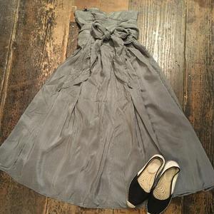 [USED] チェック柄ウェストリボンスカート