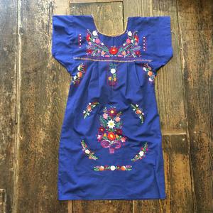 [USED] 真っ青!刺繍ワンピース