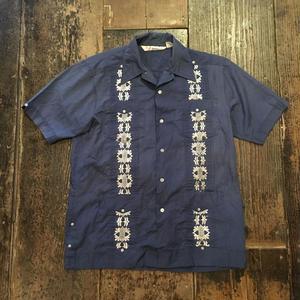 [USED] 渋めブルー キューバシャツ