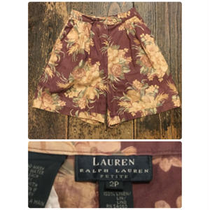 [USED] Ralph Lauren 渋色 LINEN Shorts!