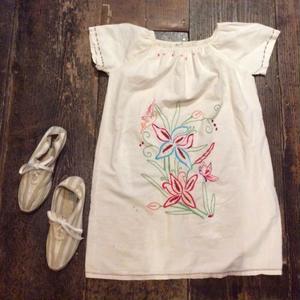 [USED] 刺繍コットンワンピース