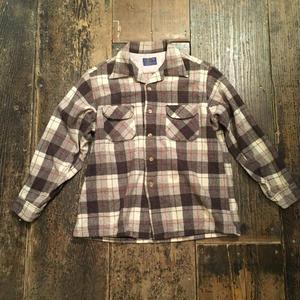 [USED] 渋色チェック柄のウールネルシャツ