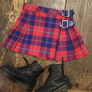 [USED] ブリティッシュチェック柄ミニ巻きスカート