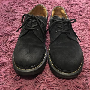 [USED] Dr.Martens BLACK  SUEDE /3HOLE