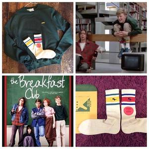 "[MY LOADS ARE LIGHT]""THE BREAKFAST CLUB"" アシンメトリー SOCKS"