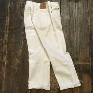 [USED] Levis 501 WHITE フサフサ
