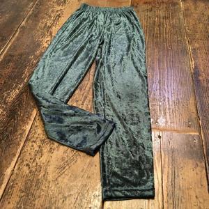 [USED]ゆったりベロア PANTS  GREEN