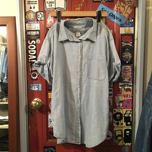 [USED] EddieBauer デニム半袖シャツ