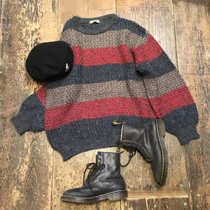 [USED] ざっくり ボーダー KNIT