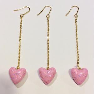 [BENICOTOY] ピンクシリーズ -チェーン♡ピアス-
