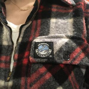 [USED] SWANNDRI ハーフZIP  WOOL シャツ