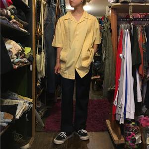 [USED] Pastel yellow キューバシャツ