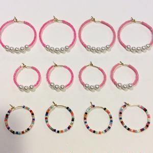 [BENICOTOY] ピンクシリーズ -フープピアス-