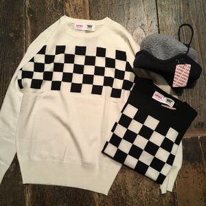 [I&ME] Checker Sweater