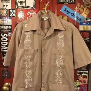 [USED] シブいい色〜!チャコールブラウン キューバシャツ