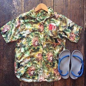 [USED] ジャングル柄 レーヨン シャツ