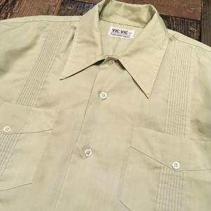 [USED] Pastel GREEN キューバシャツ