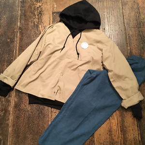 [SELECT] U.S. ノーカラー  WORK SHIRTS  DEADSTOCK