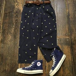 [USED] 刺繍入り COTTON CHINO  7部丈