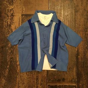 [USED] Vintage みずいろ半袖ニットカーディガン