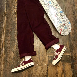 [USED] WINE RED コーデュロイパンツ made in Englamd