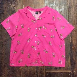 [USED] COTTON&RAYON ピンクシャツ