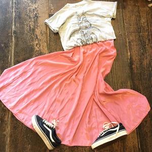 [USED] サテン ロングスカート
