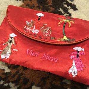 [USED] Viet Nam シルクSOUVENIR ポーチ