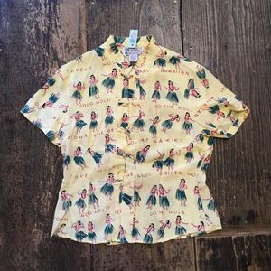 [USED] アロハ柄チャイナシャツ!