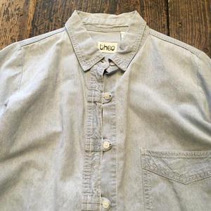 [USED] チャイナ風 シャンブレーシャツ