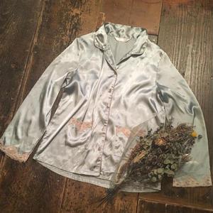 [USED] サテン パジャマシャツ