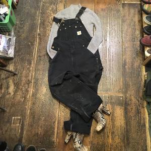 [USED] Carhartt BLACK ダック地 オーバーオール